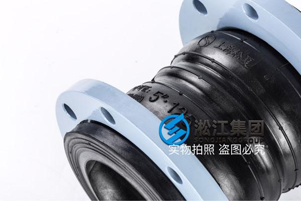 上海采购带镀锌环DN250口径双球橡胶软接头